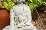Buddha am Eingang